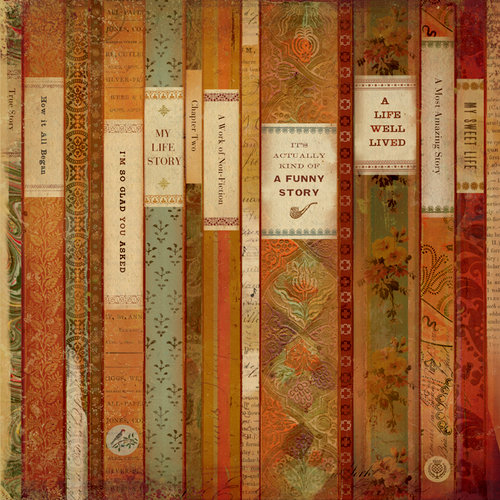 K and Company - Brenda Walton Collection - 12 x 12 Paper with Foil Accents - Scribe - Books