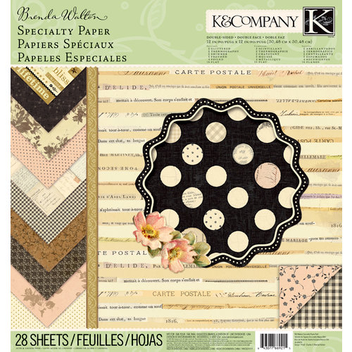 K and Company - Brenda Walton Collection - 12 x 12 Specialty Paper Pad - Maison