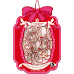 K and Company - Cupid Collection - Chipboard Box - Alphabet