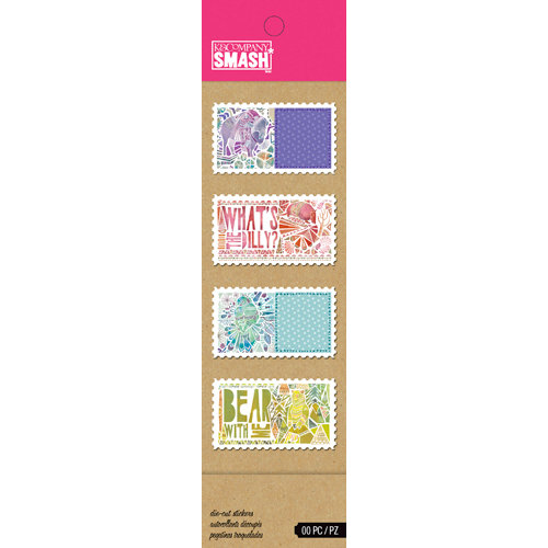 K and Company - SMASH Collection - Die Cut Stickers - Animal Stamps
