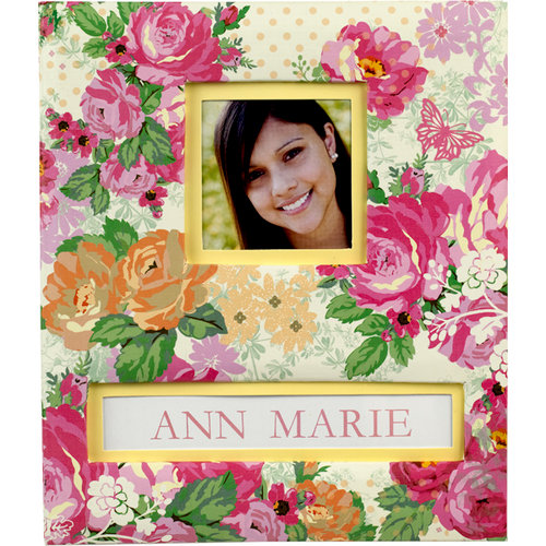 K and Company - Frame a Name Scrapbook Album - 8.5 x 11 - Pink Floral