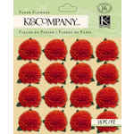 K and Company - Foliage Collection by Tim Coffey - Paper Flowers - Red