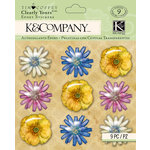 K and Company - Foliage Collection by Tim Coffey - Clearly Yours - Epoxy Stickers - Flowers