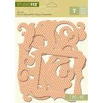 K and Company - Studio 112 Collection - Dazzle Die Cut Pieces - Orange Dazzle Frames and Corners