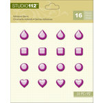 K and Company - Studio 112 Collection - Adhesive Gems - Assorted Pearl