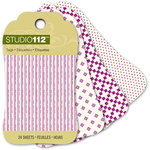 K and Company - Studio 112 Collection - Mini Tag Pad - Dark Purple