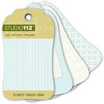 K and Company - Studio 112 Collection - Mini Tag Pad - Blue
