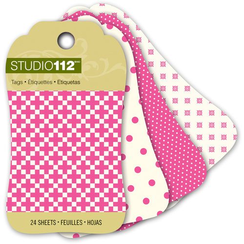 K and Company - Studio 112 Collection - Mini Tag Pad - Pink