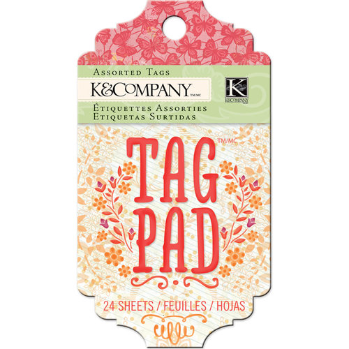 K and Company - Handmade Collection - Tag Pad