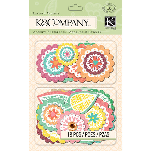 K and Company - Handmade Collection - Layered Accents - Doilies