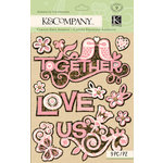 K and Company - Handmade Collection - Adhesive Chipboard - Cork Words