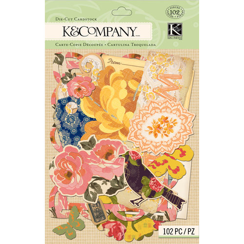 K and Company - Handmade Collection - Die Cut Cardstock Pieces