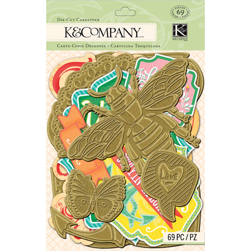 K and Company - Handmade Collection - Die Cut Cardstock Pieces - Gold