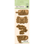 K and Company - Handmade Collection - Mini Accents - Wood Icons