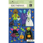 K and Company - Tim Coffey - Halloween - Grand Adhesions with Glitter Accents - Scary Character