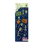 K and Company - Tim Coffey - Halloween - Adhesive Chipboard with Glitter Accents - Glow in the Dark