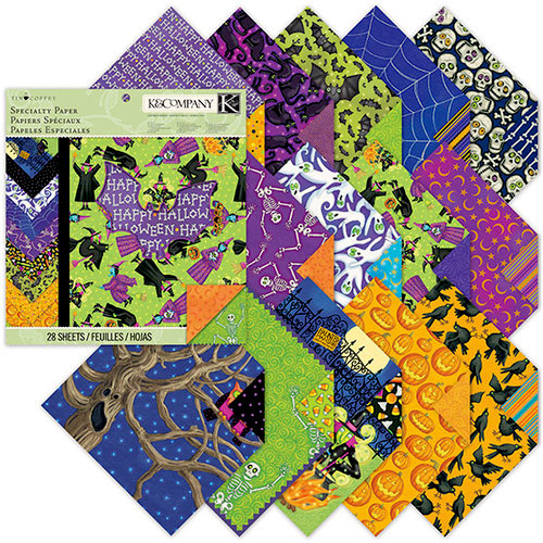 K and Company - Tim Coffey - Halloween - 12 x 12 Specialty Paper Pad with Glitter Accents