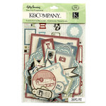 K and Company - Kelly Panacci - Eclectic Collection - Die Cut Cardstock Pieces