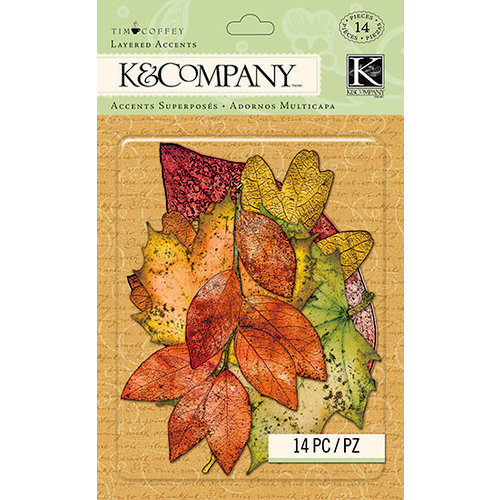 K and Company - Tim Coffey - Layered Accents with Glitter Accents - Fall Leaves