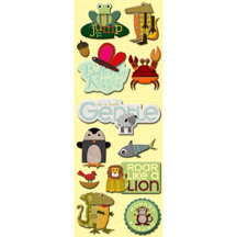K and Company - Actopus to Zelephant Collection - Adhesive Chipboard - Icons