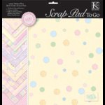 K and Company - 12 x 12 Scrap Pad To Go - Sweet Pea Baby Girl