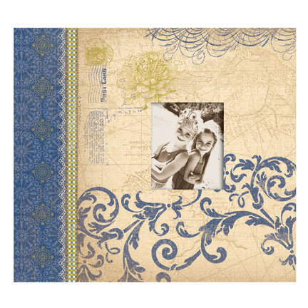 K and Company - Blue Awning Collection - 12x12 Scrapbook Album - Blue Awning