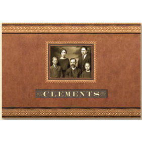 K and Company - Ancestry.com Collection - 11x8.5 Frame A Name Scrapbook Album