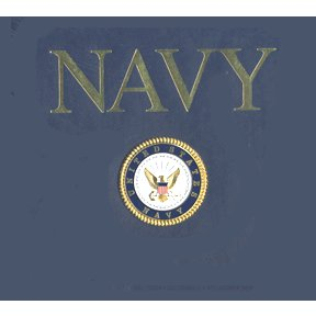 K and Company 12 x 12 Post Bound Scrapbook - Navy (in Navy Blue)