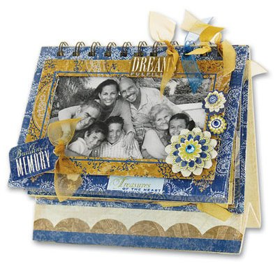 K and Company - Blue Awning Collection - Mini Flip Book Album Kit