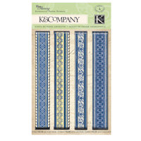 K and Company - Blue Awning Collection - Adhesive Paper Ribbon, CLEARANCE