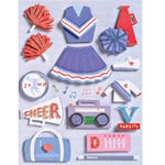 K and Company - Grand Adhesions - Sparkly Sweet - Cheerleader - Girl, CLEARANCE