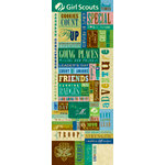 K and Company - Embossed Stickers - Girl Scouts Collection - Word and Icons