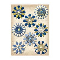 K and Company - Blue Awning Collection - Paper Flower Brads