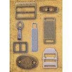 K and Company Basic Grey Metal Art - Buckle-Slide Assortment, CLEARANCE