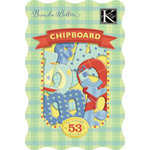 K and Company - Chipboard Alphabet Pieces - Brenda Walton Collection - Small Wonders - Boy