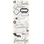 K and Company - Adhesive Chipboard - Wedding, CLEARANCE