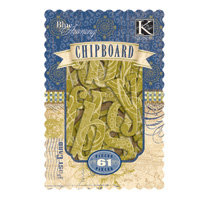 K and Company - Blue Awning Collection - Chipboard Box - Alphabet, CLEARANCE