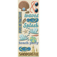 K and Company - Sea Glass Collection - Adhesive Chipboard - Beach