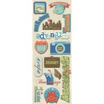 K and Company - Sea Glass Collection - Adhesive Chipboard - Travel
