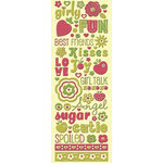 K and Company - Berry Sweet Collection - Glittered Stickers - Berry Sweet Words and Icons, CLEARANCE