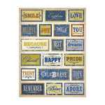 K and Company - Blue Awning Collection - Grand Adhesions 3 Dimensional Stickers - Words