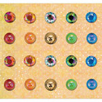 K and Company - Que Sera Sera Collection - Adhesive Gems, CLEARANCE