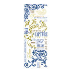 K and Company - Blue Awning Collection - Rub Ons and Gems - Phrases Swirls and Beads