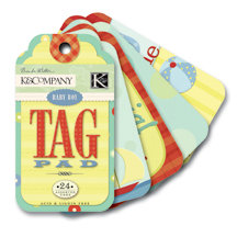 K and Company - Perfect For Journaling Tag Pad - Brenda Walton Collection - Small Wonders - Boy