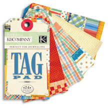 K and Company - Perfect For Journaling Tag Pad - Hopscotch Collection - Boy