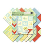 K and Company - Brenda Walton Collection - 12x12 Patterned Cardstock Double Sided Paper Pad - Small Wonders Boy