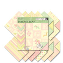 K and Company - Brenda Walton Collection - 12x12 Patterned Cardstock Double Sided Paper Pad - Small Wonders Girl