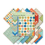 K and Company - Hopscotch Collection - 12x12 Patterned Cardstock Double Sided Paper Pad - Boy