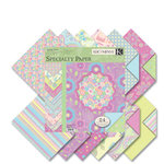 K and Company - Sparkly Sweet Collection - 12x12 Patterned Cardstock Double Sided - Specialty Paper Pad - Girl