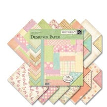 K and Company - Hopscotch Collection - 12x12 Patterned Cardstock Double Sided Paper Pad - Girl